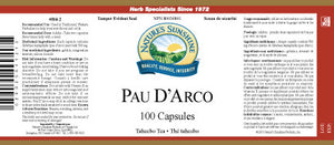 Nature's Sunshine Products, Pau D' Arco (100 Capsules)