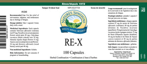 Nature's Sunshine Products, RE-X (100 Capsules)