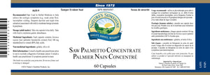 Nature's Sunshine Products, Saw Palmetto Concentrate (60 Softgels)