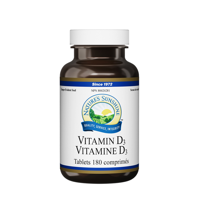 Nature's Sunshine Products, Vitamin D3, 1000 IU (180 Tablets)