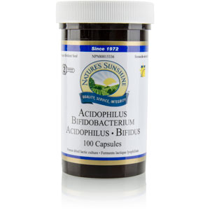 Nature's Sunshine Products, Acidophilus-Bifidobacterium (100 Capsules)