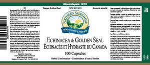 Nature's Sunshine Products, Echinacea / Golden Seal, 400 mg (100 Capsules)