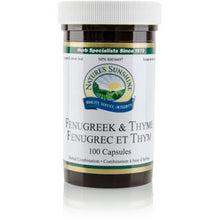 Nature's Sunshine Products, Fenugreek & Thyme (100 Capsules)