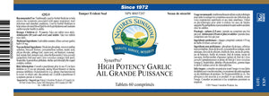 Nature's Sunshine Products, Garlic, High Potency, SynerPro, Odour-Controlled (60 Tablets)