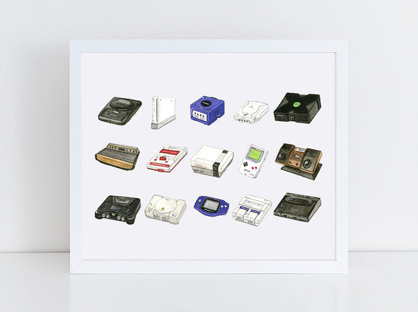 Gaming Consoles Fine Art Print