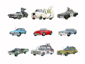 Memorable Movie Cars Fine Art Print