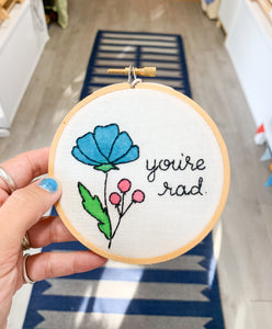 You're Rad Embrodiery Ring