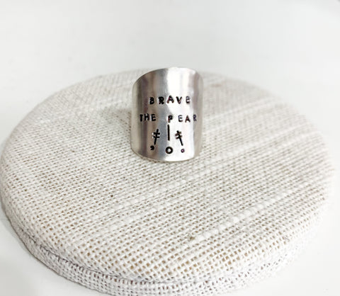 Brave the Fear Style 2 Spoon Ring
