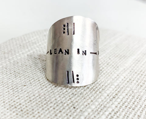Lean In Spoon Ring