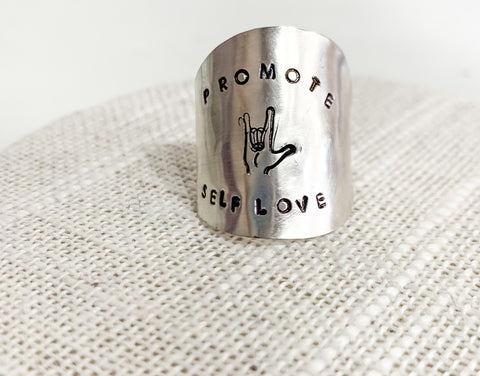 Promote Self Love Spoon Ring