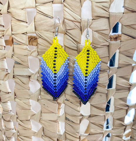 Yellow Sensation Beaded Earrings