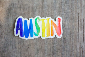 Rainbow Austin Sticker