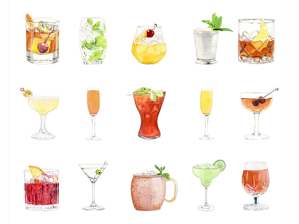Cocktail Collection Fine Art Print