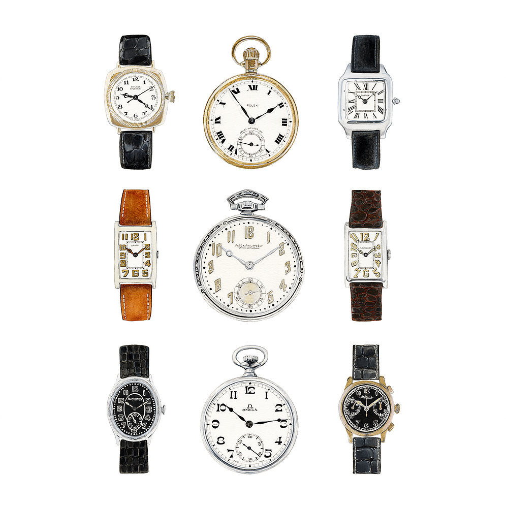 Vintage Watch Collection Fine Art Print