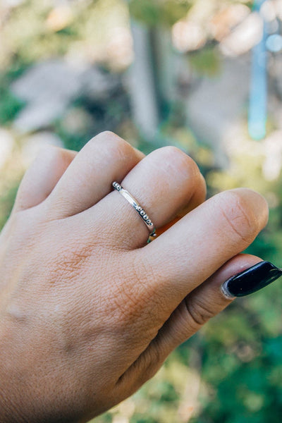 Dainty Silver Stacking Band