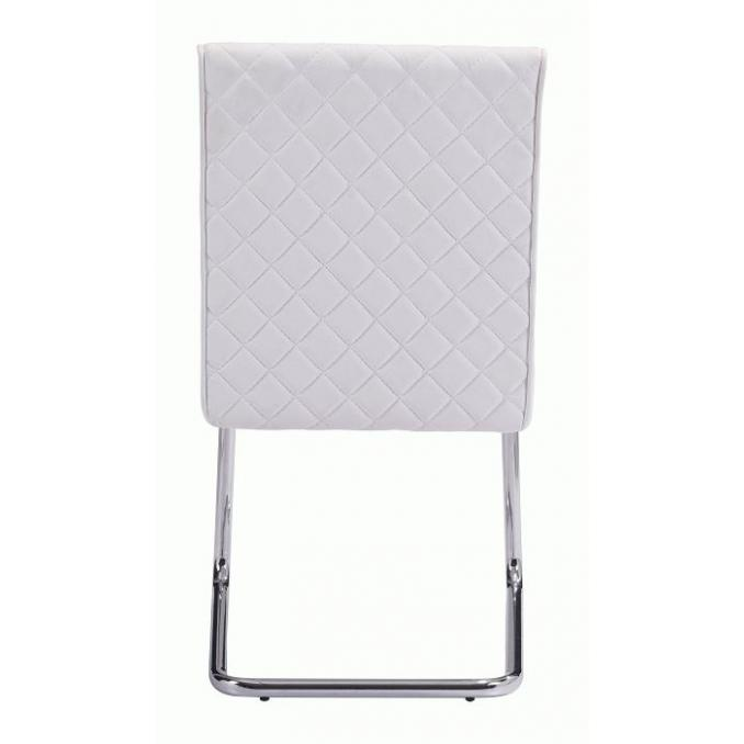 Quilt Armless Dining Chair White (Set of 2)