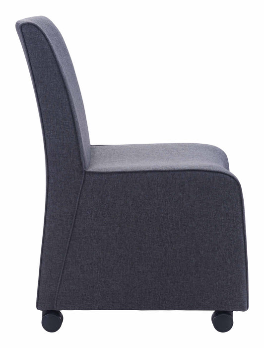 Whittle Dining Chair Dark Gray (Set of 2)