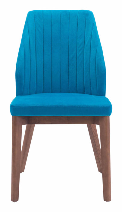 Vaz Dining Chair Blue Velvet (Set of 2)