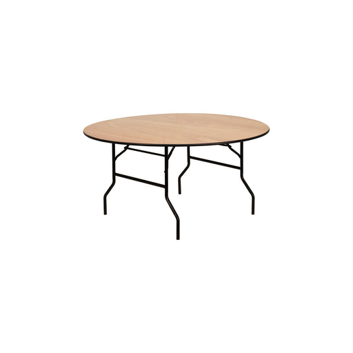 "Flash Furniture - 60"" Round Wood Folding Banquet Table, Black"