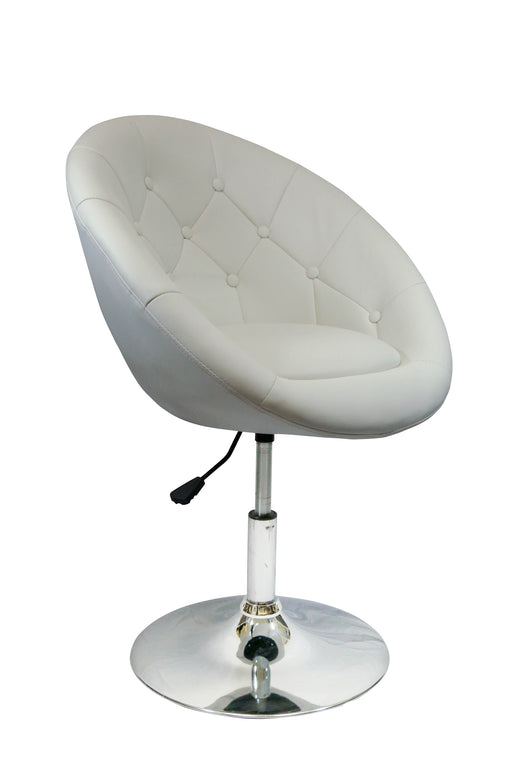 Rounded Faux Leather Height Adjustable Leisure Bar Stool