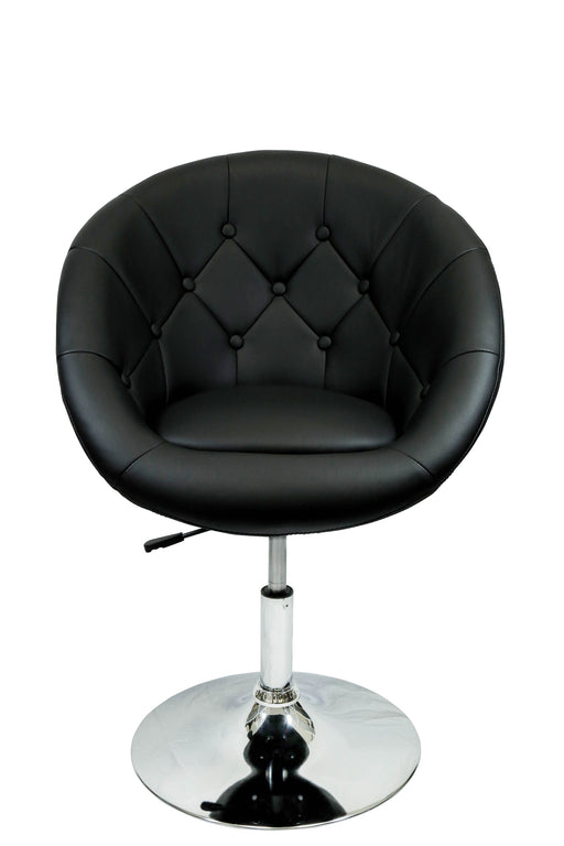 Rounded Faux Leather PU Height Adjustable Leisure Bar Stool