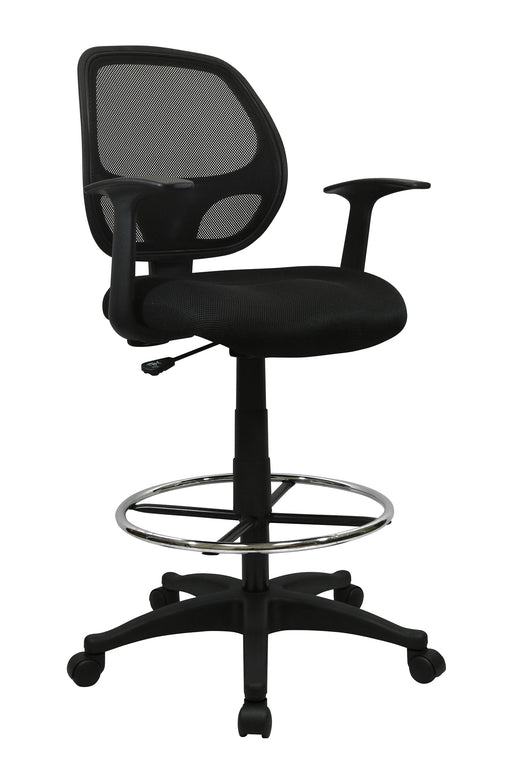 Black Mesh Computer Desk Chair with Foot ring