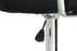 Hexagrid PU Height Adjustable Bar Stool with Arms in Black (Set of 2)