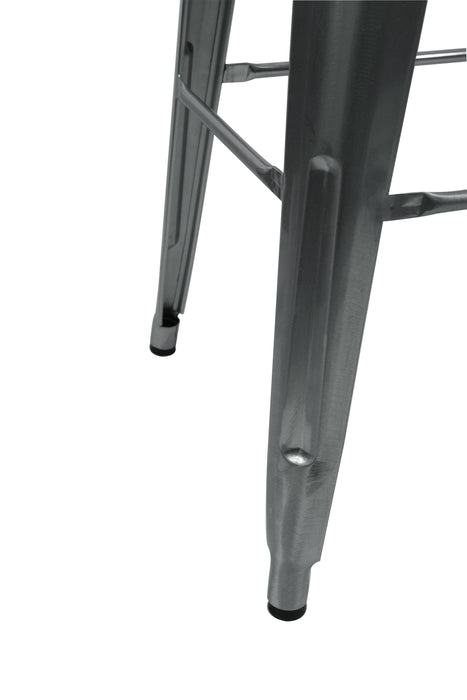 Industrial Stack Counter Height Stool- Galvanized