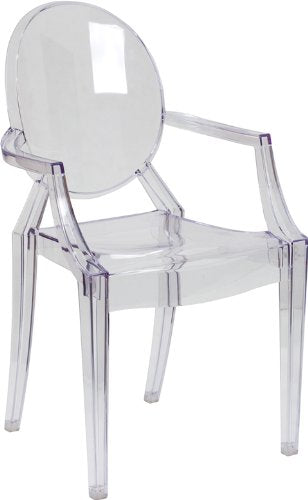 Nicer Interior - Ghost Chair with Arms in Transparent Crystal