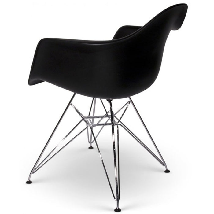Black - Modern Eiffel Dining Room Chair (Set of 2)