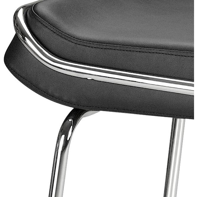 Wedge Barstool Black (Set of 2)