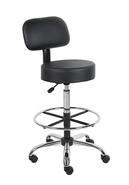 Caressoft Medical/Drafting Stool with Back Cushion