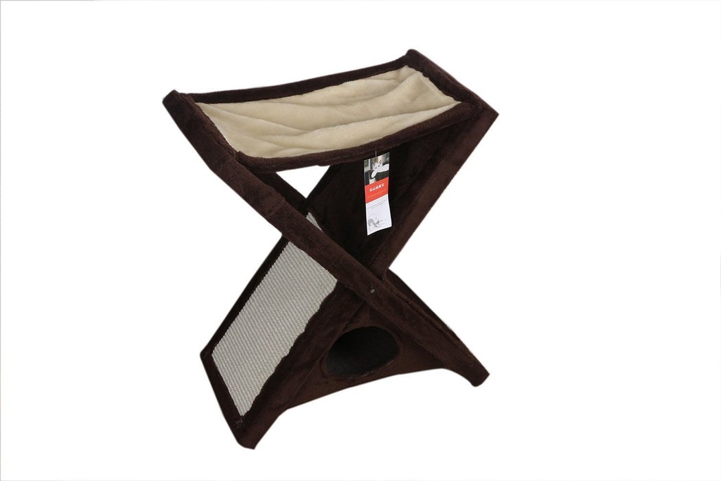 Cat Furniture Fold and Storage Cat Tree Cat Tower Kitten Bed Lounge iPet