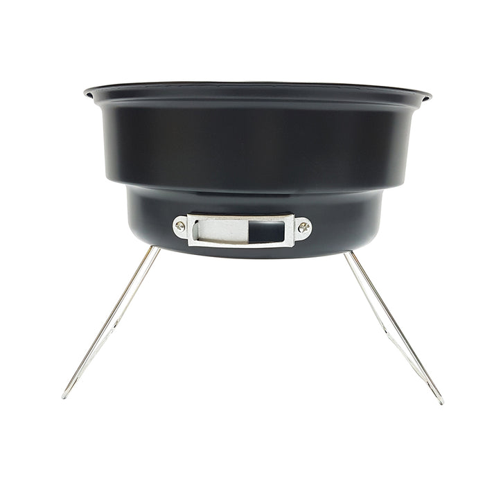 Portable Charcoal Grill and Cooler – Round Table Top Grill