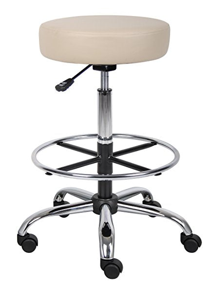 Caressoft Medical/Drafting Stool Black with Footring