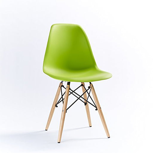 Green - Modern Eiffel Dining Room Chair (Set of 6)