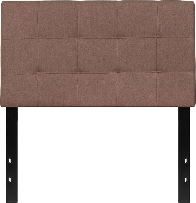 Nicer Furniture - Bed-ford Tufted Upholstered- Twin Size Headboard - Camel -