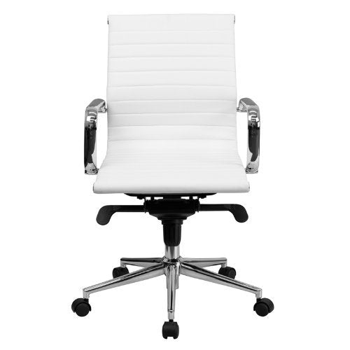 Replica Eames Group Aluminium Chair #CF-035-Low Back, White