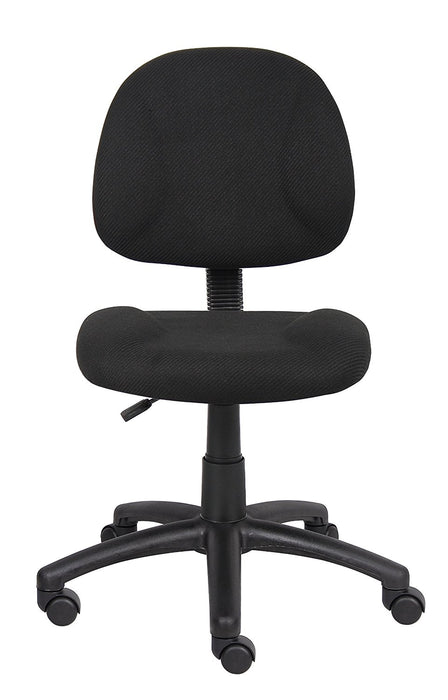 Black Office Chair - Fabric Computer Desk Chair Deluxe Posture