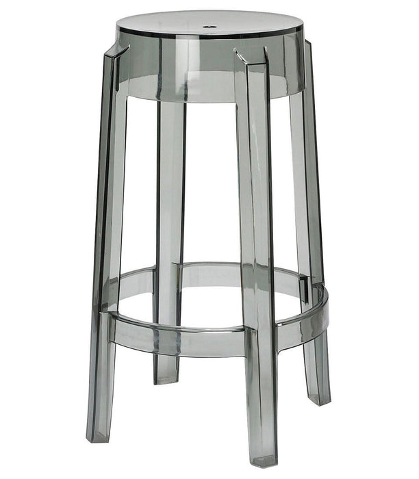 Clear Smoke Counter Stool