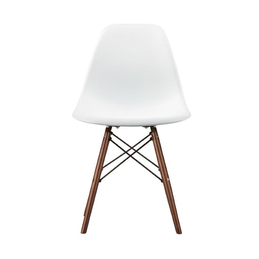 Dsw Molded Plastic Side Chair Wooden Dowel Base - White Wood Dowel