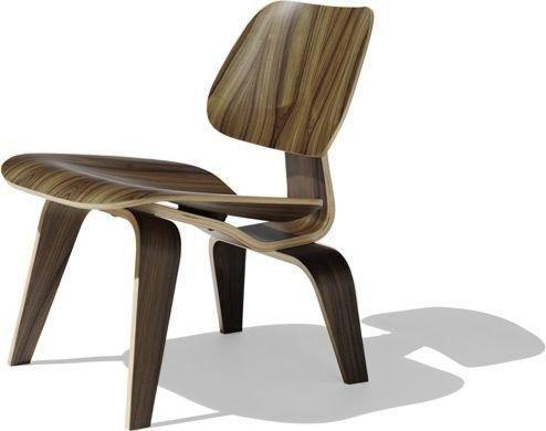Modern inspired DCW Modern Dining Chair Side Chair in Walnut