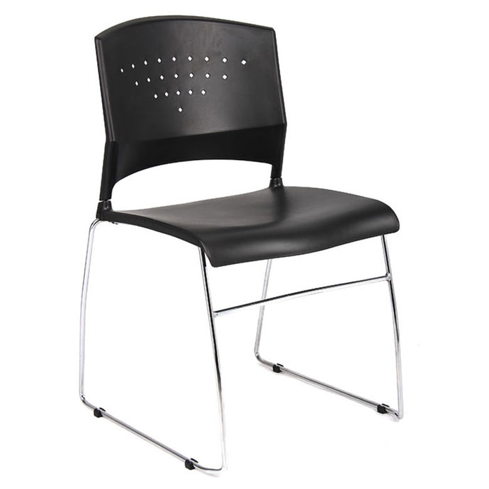 Black Polypropylene Stack Chair