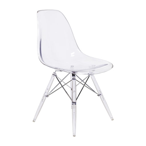 Transparent Clear Legs Eiffel Dining Room Chair (Set of 4)