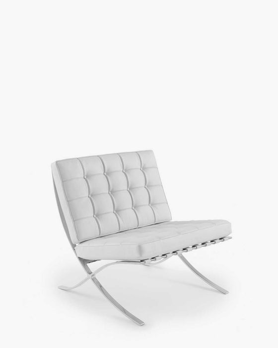 Barcelona Chair - Siena White