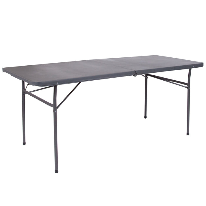 Nicer Furniture - 30''W x 72''L-Dark Gray- Folding Table-Carrying Handle