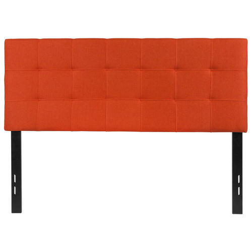 Nicer Furniture - Bed-ford Tufted Upholstered- Full Size Headboard - Orange Fabric