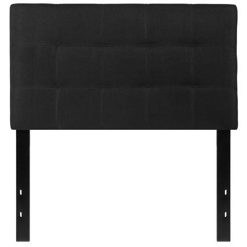 Nicer Furniture - Bed-ford Tufted Upholstered -Twin Size Headboard - Black Fabric