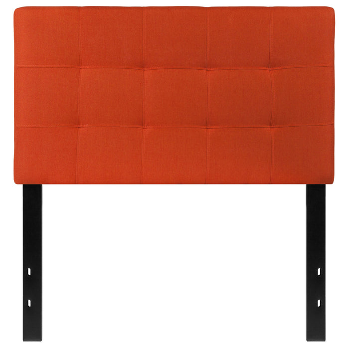 Nicer Furniture - Bed-ford Tufted Upholstered  - Twin Size Headboard - Orange