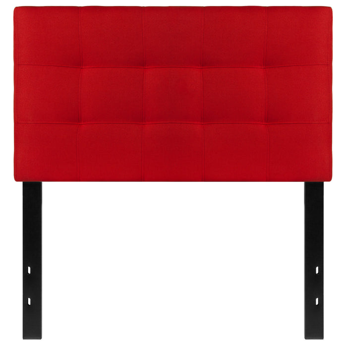 Nicer Furniture - Bed-ford Tufted Upholstered - Twin Size Headboard - Red